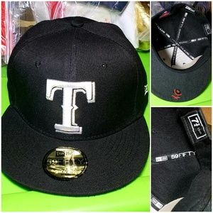 New Era Accessories - Texas Rangers New Era 59fifty MLB fitted hat